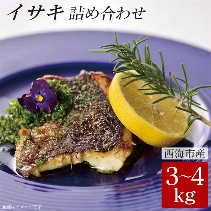 【ふるさと納税】【新鮮直送!】西海市産イサキ詰め合わせ 3~4kg分 (カタログコード:B-15) CAA013
