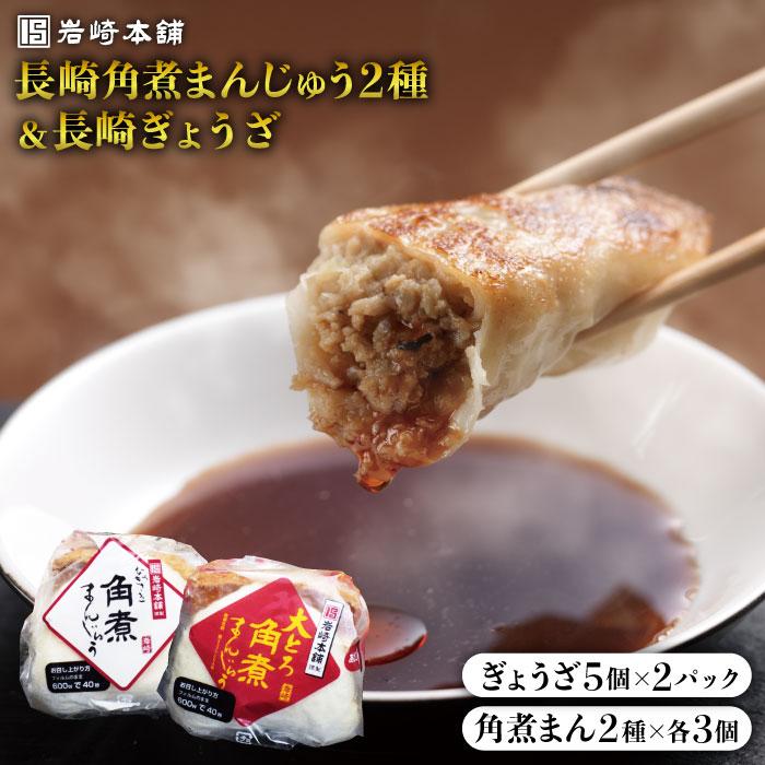 長崎の味が詰まった至福のセット きっとやみつきになる ふるさと納税 So Yummy 岩崎本舗 長崎ぎょうざ 2種 在庫あり EAB003 期間限定の激安セール 角煮まんじゅう