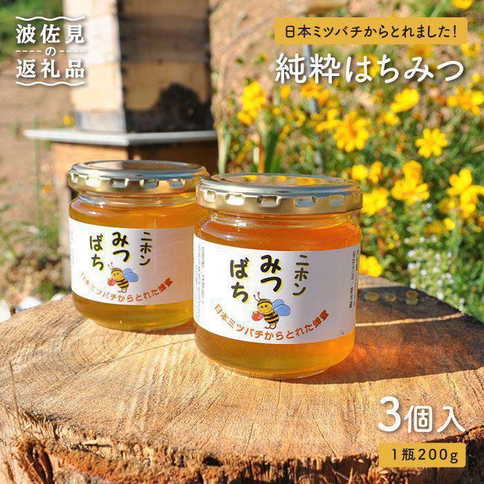 【ふるさと納税】日本蜜蜂の純粋はちみつ 3個セット [MD01]
