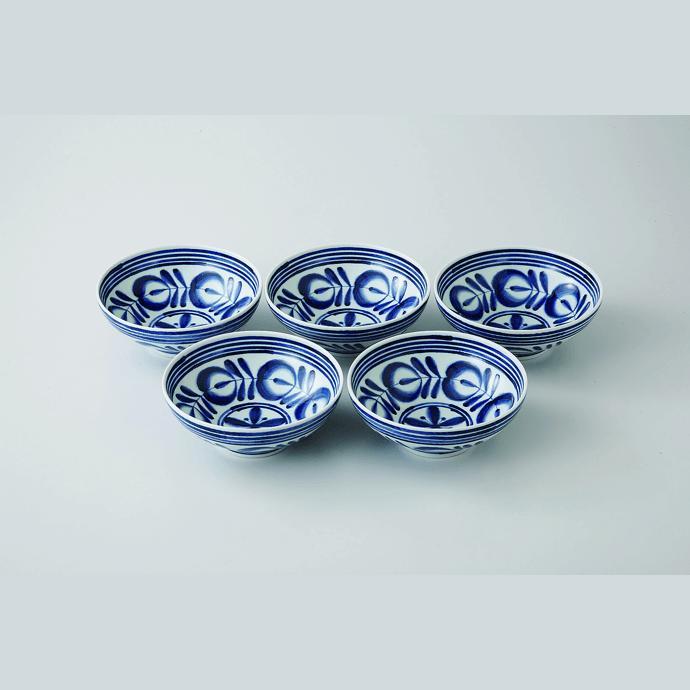 【ふるさと納税】【食卓に洋風の風吹かせます♪】モダンブルー小鉢5個セット【波佐見焼】【西海陶器】 [OA07]