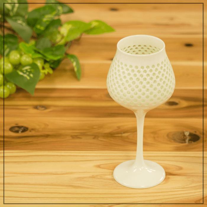 【ふるさと納税】【至高の逸品】水晶彫ワインカップ【西海陶器】【丹心窯】 [OA14]