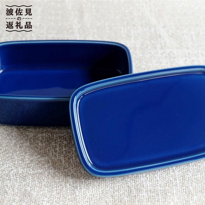 【ふるさと納税】【磁器のふたもの】ブルーが鮮やかなCONTEロング ブルー【白山陶器】 [TA50]