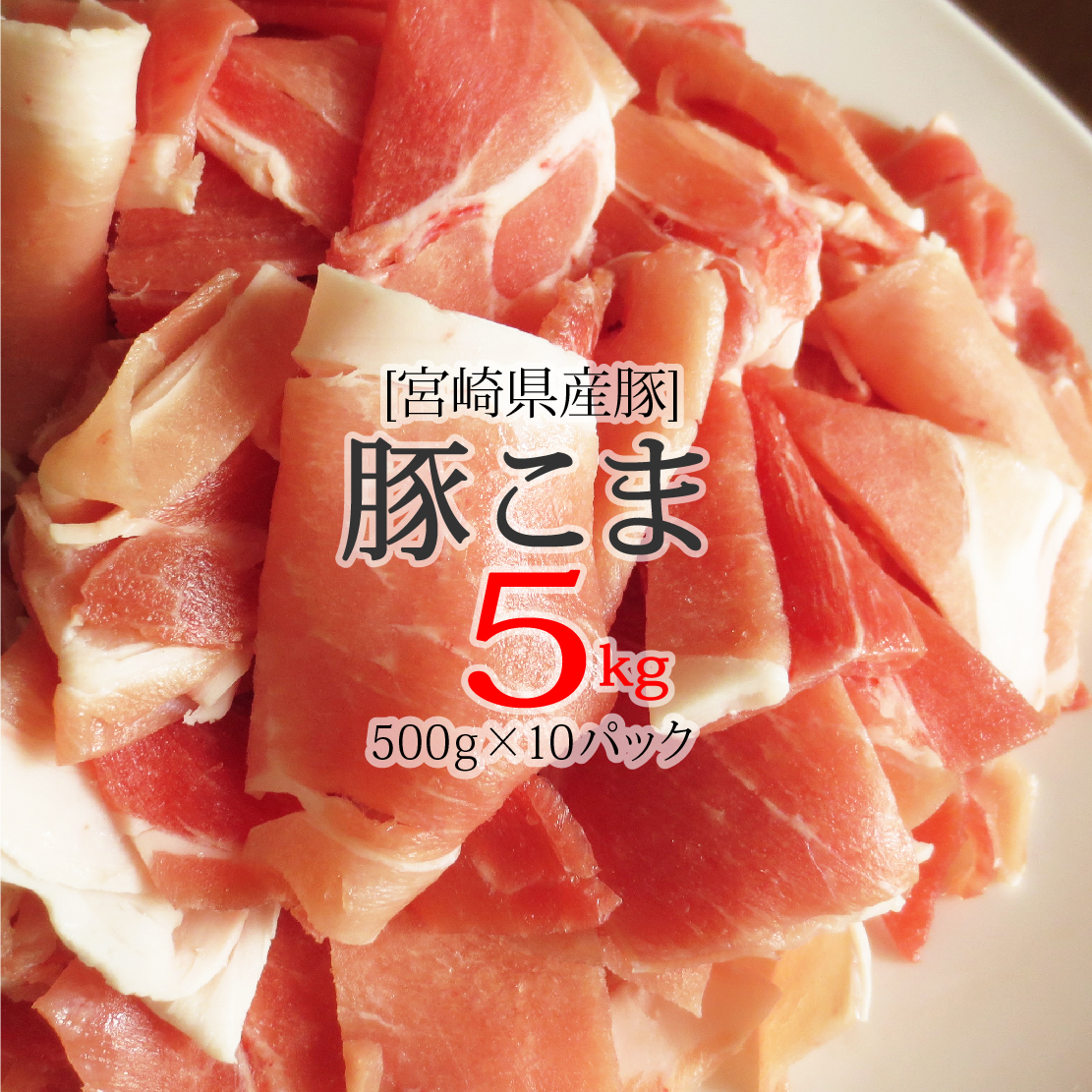 【ふるさと納税】 宮崎県産 豚 こま肉 5kg (500g×10パック)豚肉 こま切れ 普段使い 冷凍 小分け 送料無料