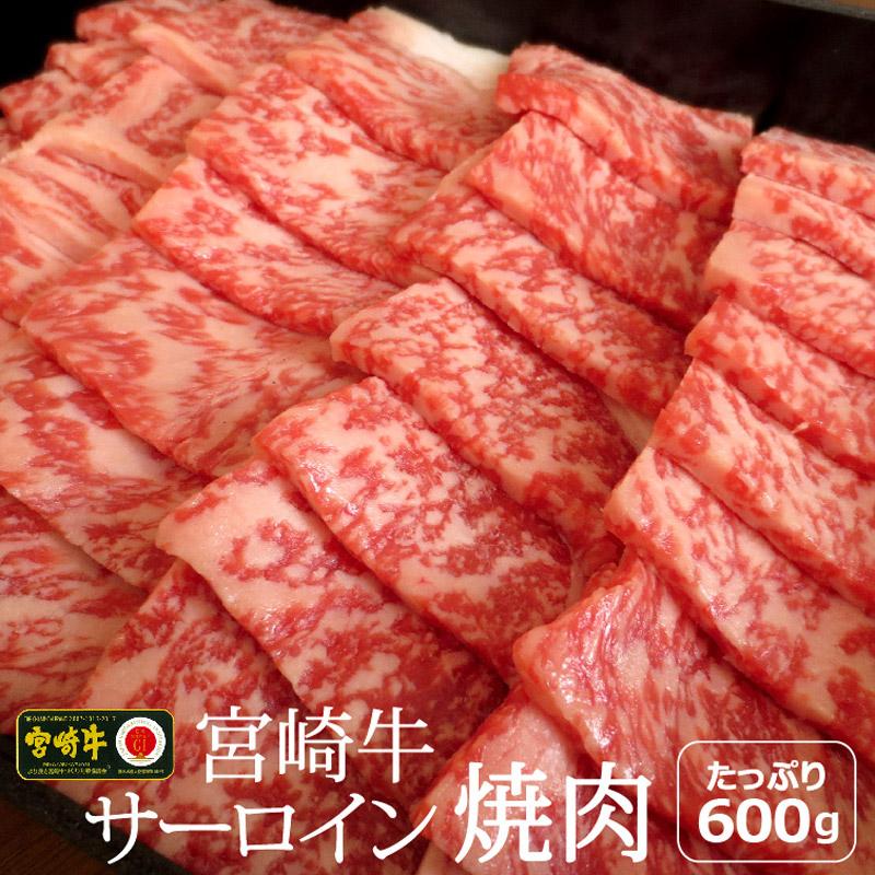 【ふるさと納税】宮崎牛 サーロイン 焼肉 600g 約6~7人前 霜降り bbq 和牛 牛肉 国産 宮崎県産 送料無料