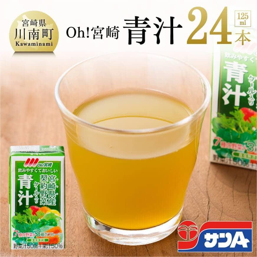 【ふるさと納税】サンA Oh!宮崎 青汁125ml×24本セット