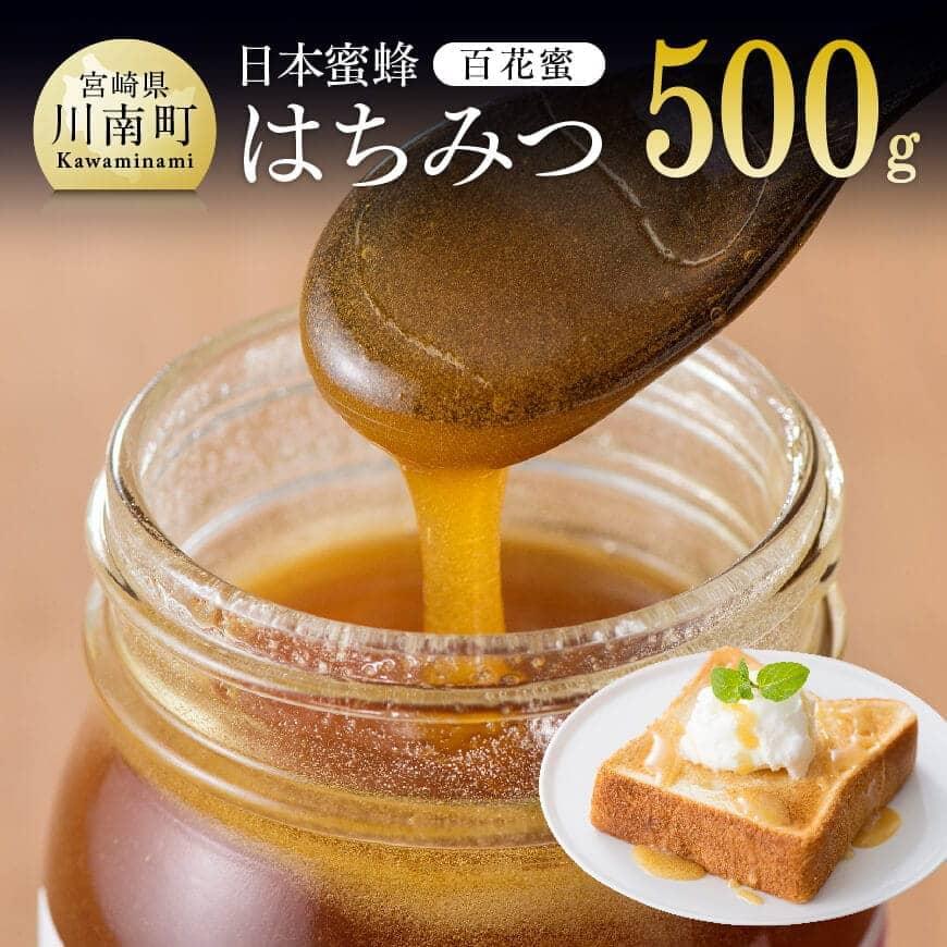 日本ミツバチを使い採密した希少な児湯郡産はちみつ 定価の67%OFF ふるさと納税 期間限定の激安セール 純粋はちみつ 500g 百花密