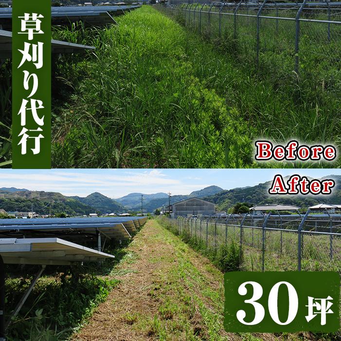 【ふるさと納税】空地の草刈り代行サービス 30坪以内【ひなた】