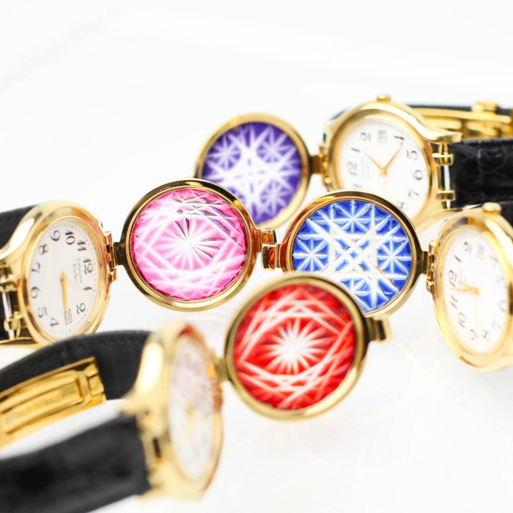 □【ふるさと納税】【伝統工芸 職人の技】薩摩切子 腕時計