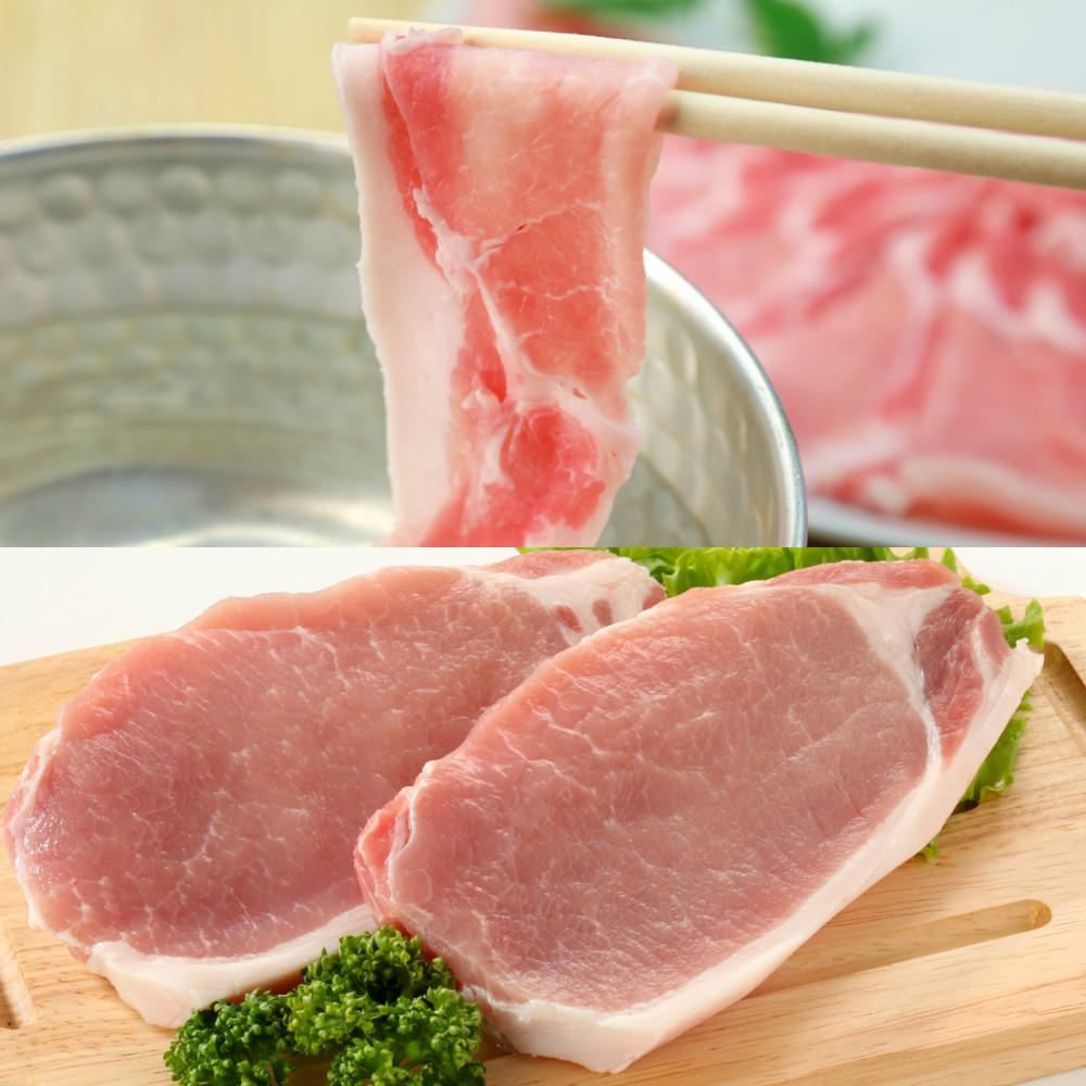 □【ふるさと納税】【鹿児島県産】茶美豚 しゃぶしゃぶ用 & とんかつ用 1.8kg