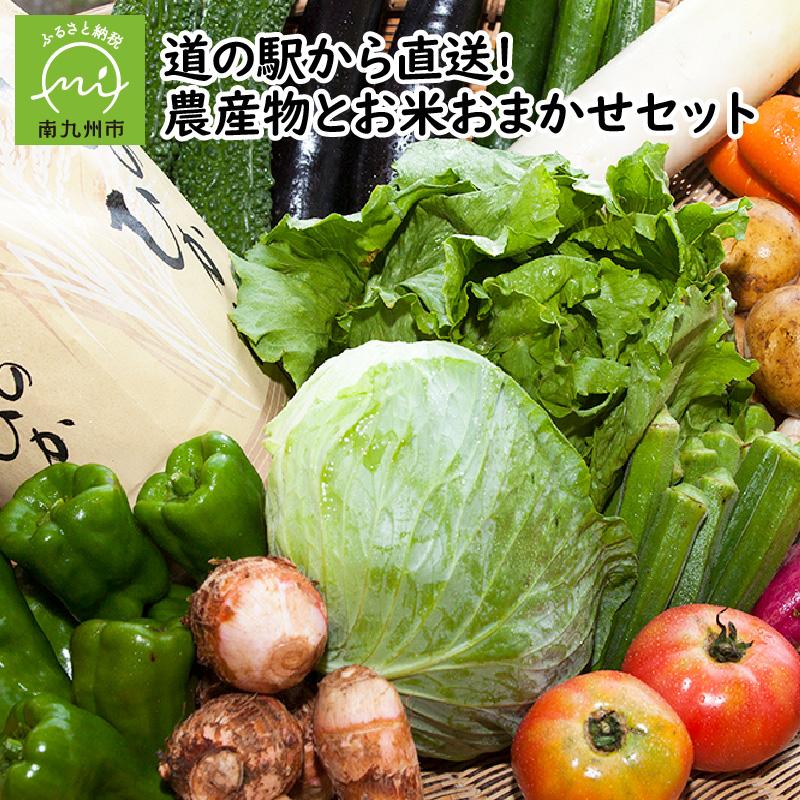 【ふるさと納税】道の駅から直送!農産物とお米おまかせセット