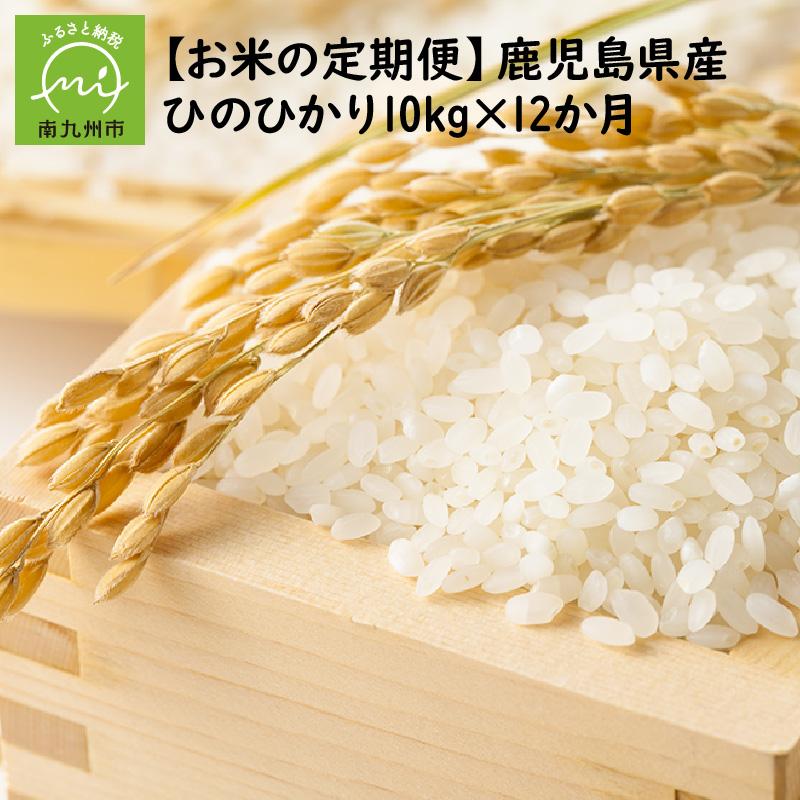 【ふるさと納税】【全12回】鹿児島県産米ひのひかり10kg定期便