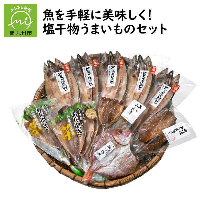 【ふるさと納税】魚を手軽に美味しく!塩干物うまいものセット