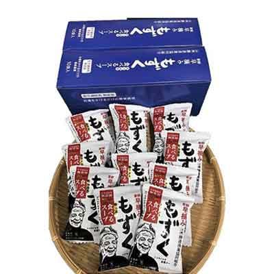 【ふるさと納税】新鮮早摘みもずくたっぷり食べるスープ(6箱)