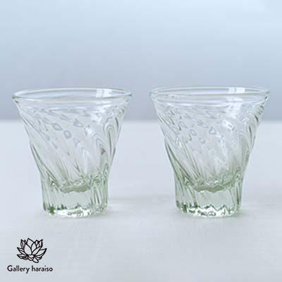 ふるさと納税 本日限定 琉球ガラス レデューサーショート広口グラス クリア ペア 発売モデル
