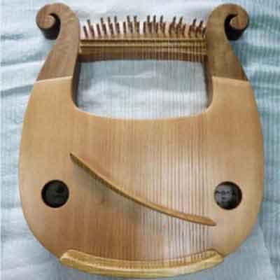 【ふるさと納税】沖縄竪琴 あやはべる32弦(木製ケース・調弦器付)