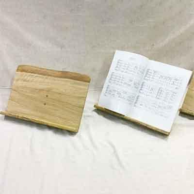 ふるさと納税 返品送料無料 再再販 てるる詩の木工房がつくる卓上譜面台