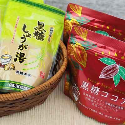【ふるさと納税】黒糖ココア(2袋)&黒糖しょうが湯(4袋)セット