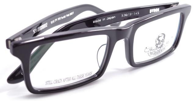 【 おしゃれ メガネ 】59HYSTERIC 《 BYRON 》 ゴーキューヒステリック バイロン [スクエア][セルフレーム][クラシック][日本製] 送料無料 メガネケース・メガネ拭き付属