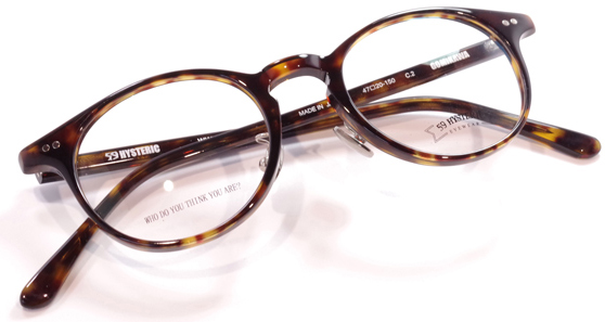 【 おしゃれ メガネ 】59HYSTERIC 《 GOMIKAWA 》 ゴーキューヒステリック ゴミカワ [丸眼鏡][セルフレーム][クラシック][日本製] 送料無料 メガネケース・メガネ拭き付属