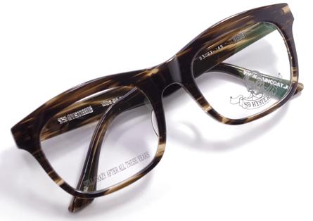 【 おしゃれ メガネ 】59HYSTERIC 《 HIDE 》 ゴーキューヒステリック ヒデ [ウェリントン][セルフレーム][クラシック][日本製] 送料無料 メガネケース・メガネ拭き付属