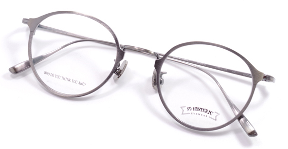 【 おしゃれ メガネ 】59HYSTERIC 《 HOLST 》 ゴーキューヒステリック ホルスト [丸メガネ][メタルフレーム][チタン板抜き][クラシック][日本製] 送料無料 メガネケース・メガネ拭き付属