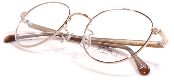 【 おしゃれ メガネ 】59HYSTERIC IMAGINE ゴーキューヒステリック イマジン [ペンタゴン][セルフレーム][クラシック][日本製] 送料無料 メガネケース・メガネ拭き付属