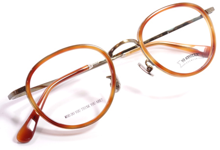 【 おしゃれ メガネ 】59HYSTERIC 《 STEVE 》 ゴーキューヒステリック スティーブ [ボストン][コンビフレーム][インナーリム][クラシック][日本製] 送料無料 メガネケース・メガネ拭き付属