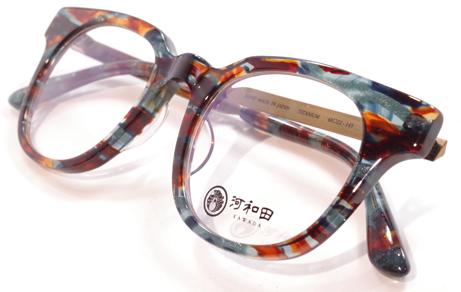 【 おしゃれ メガネ 】河和田《 村雨-16 》KAWADA MURASAME かわだ むらさめ [ウェリントン][コンビフレーム][クラシック][日本製][ユニーク] 送料無料 メガネケース・メガネ拭き付