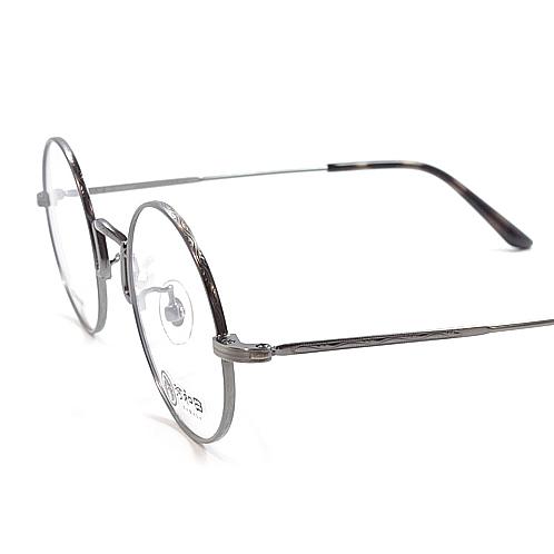 【 おしゃれ メガネ 】河和田 名人集《 西川登-06 》KAWADA NISHIKAWA かわだ めいじんしゅう にしかわのぼる [丸メガネ][メタルフレーム][チタン][クラシック][日本製] 送料無料 メガネケース・メガネ拭き付