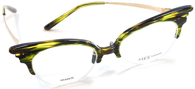 【 おしゃれ メガネ 】MEE EYEWEAR《 Proud Crane 》ミーアイウェア プラウドクレーン [ナイロール][コンビフレーム][ファッション][日本製] 送料無料 メガネケース・メガネ拭き付