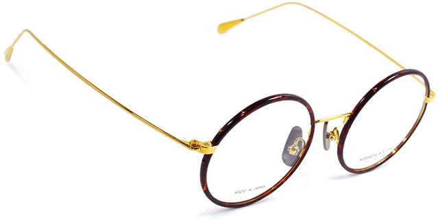 【 おしゃれ メガネ 】西出和男 作《 NK-742 》NISHIDEKAZUO SAKU ニシデカズオ サク エヌケー742 [セル巻き][丸眼鏡][メタルフレーム][チタン][クラシック][日本製] 送料無料 メガネケース・メガネ拭き付
