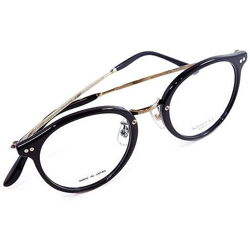 【 おしゃれ メガネ 】西出和男 作《 NK-801 》NISHIDEKAZUO SAKU ニシデカズオ サク エヌケー801 [ラウンド][コンビフレーム][セルロイド][クラシック][日本製] 送料無料 メガネケース・メガネ拭き付