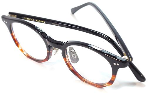 【 おしゃれ メガネ 】STANCEYRAMARS《 SR-008 》スタンシーラマーズ エスアール008[ボストン][セルフレーム][セルロイド][クラシック][ユニーク][日本製] 送料無料 メガネケース・メガネ拭き付属