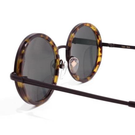 【 おしゃれ サングラス 】TailorHitch《 PATTERN X-04 》テイラーヒッチ パターン エックスゼロヨン [ラウンド][コンビフレーム][インナーリム][クラシック][日本製] 送料無料 メガネケース・メガネ拭き付