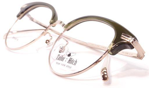 【 おしゃれ メガネ 】TailorHitch《 PATTERN X-11 》テイラーヒッチ パターン エックスジュウイチ [ボストン][コンビフレーム][サーモント][クラシック][日本製] 送料無料 メガネケース・メガネ拭き付