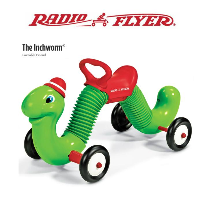 #73 RADIO FLYER インチワーム Inchworm キックカー 足けり乗用玩具 キッズ 誕生日 プレゼント インテリア ラジオフライヤー ラジフラ