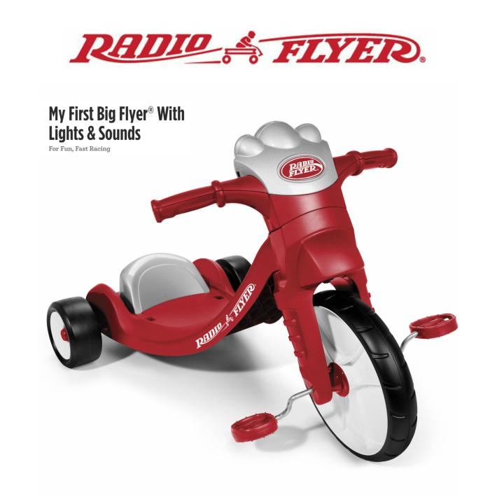 【送料無料】#402 RADIO FLYER 三輪車 My First Big Flyer with Light & Sounds Tricycle キックカー 足けり乗用玩具 キッズ 誕生日 プレゼント お散歩 公園 ラジオフライヤー ラジフラ