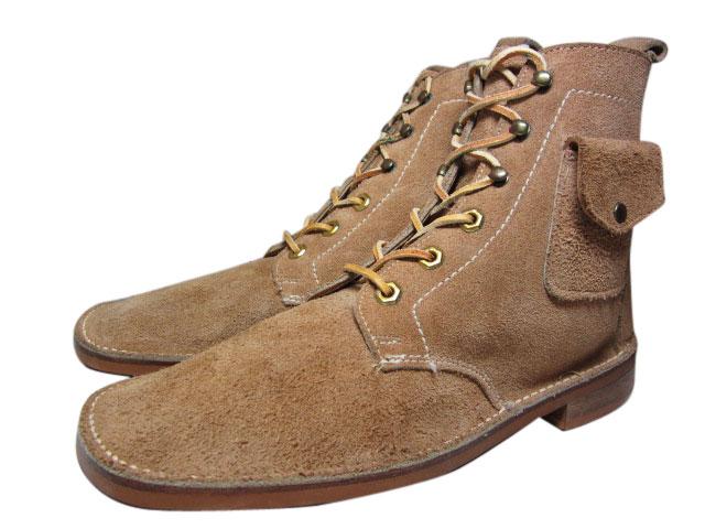 Deadstock JS Raub Shoes スエードレザー レースアップブーツ ベージュ 【US 10 D】【smtb-m】【あす楽対応】【古着屋mellow市場店】