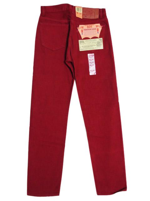 90's Deadstock Levi's/リーバイス 501 カラー デニムパンツ 赤 Made in U.S.A 【W31 L33】【smtb-m】【あす楽対応】【古着屋mellow市場店】