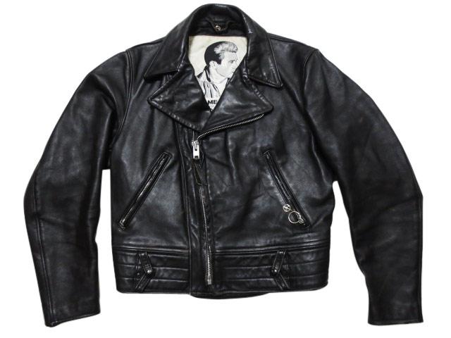 SCHOTT×JAMES DEANショット ジェームス・ディーン ダブルライダース レザージャケット 黒 Made in UA54L3Rjq