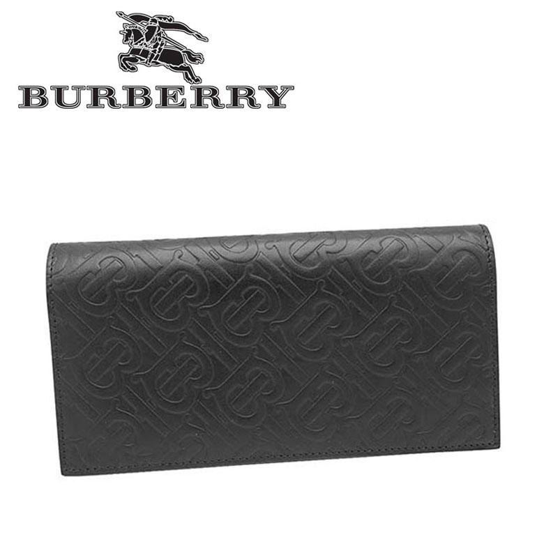 バーバリー BURBERRY 小銭入れ付 サイフ 長財布 [8017650-A1189/BLACK]