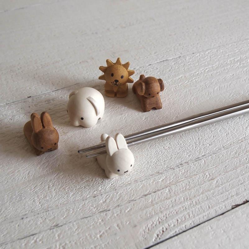 限定モデル miffy ミッフィー ディック アニマル ブルーナ 木製箸置き スーパーセール