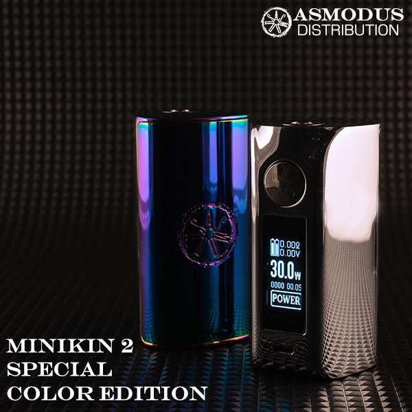ASMODUS vape アスモドス アスモドゥス アスモダス ミニキン バッテリー2本タイプ MINIKIN2 designed by USA Minikin V2 180W Touch Screen Mod Special Color Edition