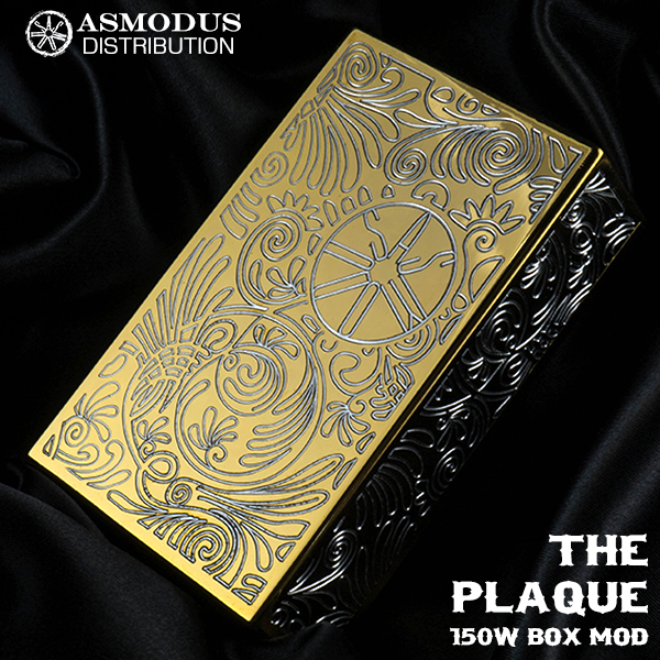 ASMODUS vape アスモドス アスモダス プラーク バッテリー2本タイプ designed by USA AoS Edition Plaque 150W Box Mod GOLD
