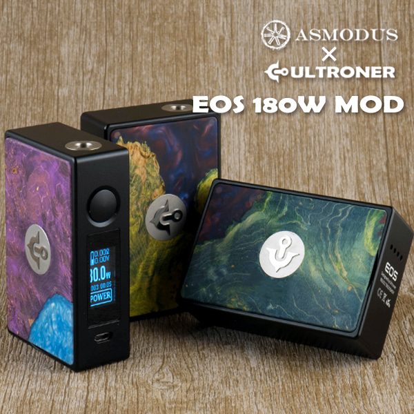 ASMODUS vape アスモダス ULRTONER バッテリー2本タイプ Ultroner x EOS 180W Box Mod