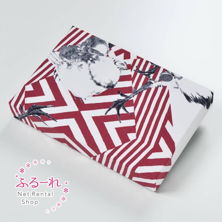 [送料別途][アウトレット商品]カルトナージュ 鶏図押絵貼屏風繊細な鶏の模写と赤い幾何学的なボーダーが独特な世界を織り成すアーティスティックなデザイン OR0028
