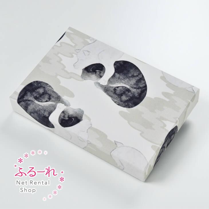 [送料別途][アウトレット商品]カルトナージュ 双犬図墨絵の特徴をナチュラルに表現したモダンなデザイン OR0030