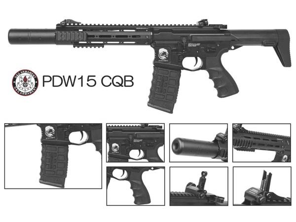 G&G 海外製電動ガン本体 PDW15-CQB (EGC-PDW-009-BNB) エアガン 18歳以上 サバゲー 銃