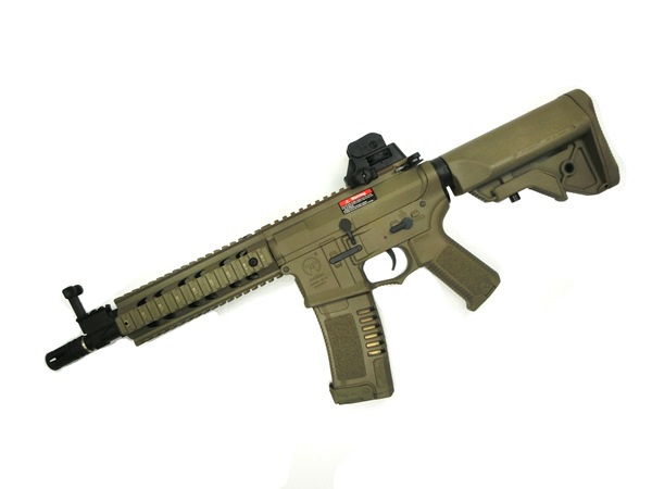 (EFCS搭載機種/チャンバーカスタム対応)ARES 海外製電動ガン本体 AMOEBA コンバットギア タクティカルライフル ミドル DE(AR-047-DE AM-008) エアガン 18歳以上 サバゲー 銃