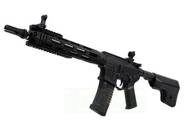 (EFCS搭載機種/チャンバーカスタム対応)ARES 海外製電動ガン本体 AMOEBA コンバットギア タクティカルライフル ロング BK(AR-048-BK AM-009) エアガン 18歳以上 サバゲー 銃